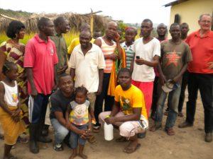 L'équipe à Loukakou